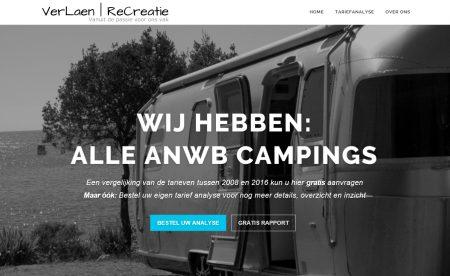 Gratis TariefAnalyse campings in NL 2008 naar 2016